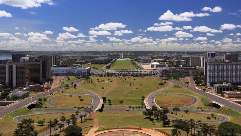 Horizon van Brasilia op een zonnige dag royalty-vrije stock afbeeldingen