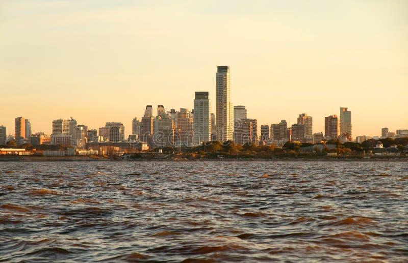 Horizon van Buenos aires stock afbeeldingen