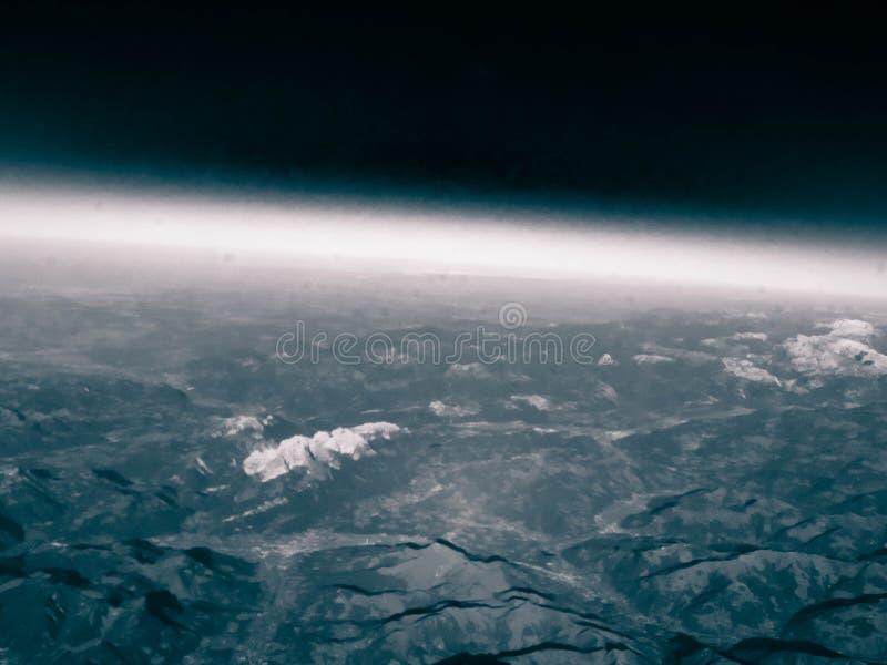 Horizon van de aarde stock fotografie