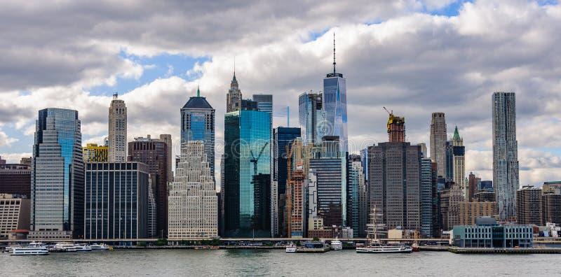 Horizon van de Hoogten van Brooklyn in Brooklyn, New York, de V.S. stock fotografie