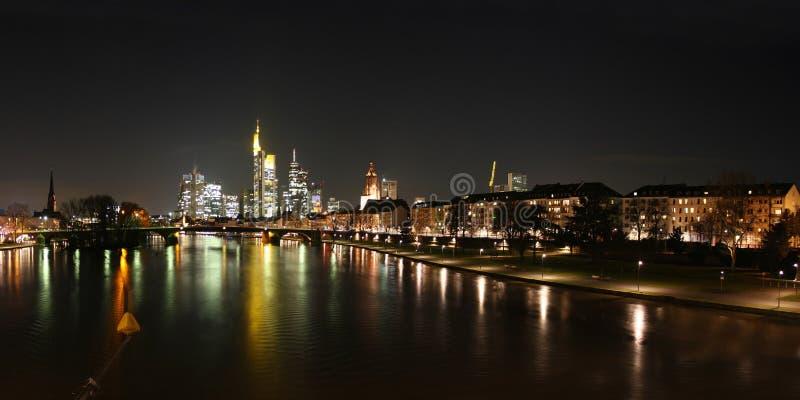 Horizon van de Leiding van Frankfurt en van de rivier royalty-vrije stock fotografie