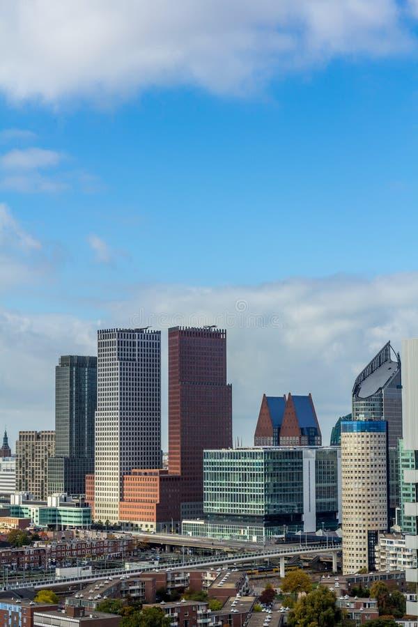 Horizon van de stad van Den Haag stock foto's