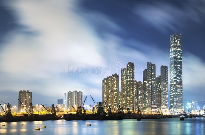 Horizon van de Stad van Hongkong stock foto