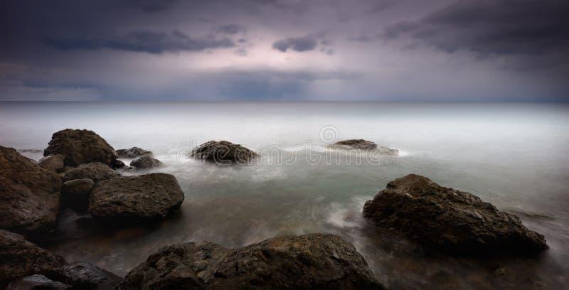 Horizon van de Zwarte Zee stock foto's