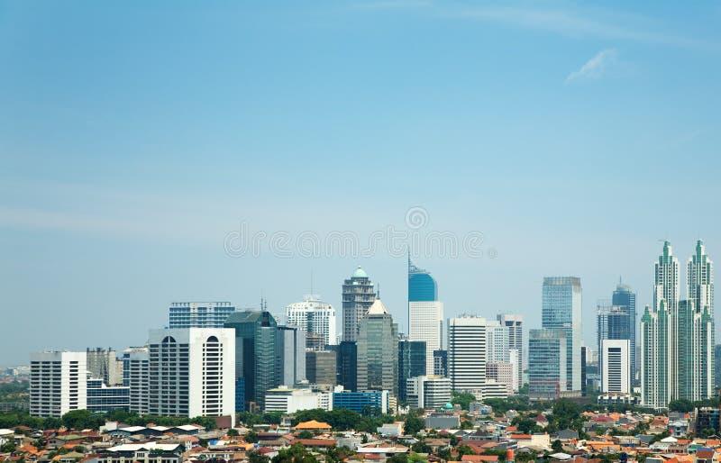 Horizon van Djakarta royalty-vrije stock foto