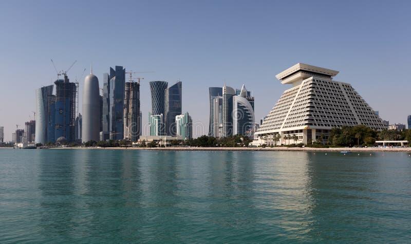 Horizon van Doha stock afbeelding