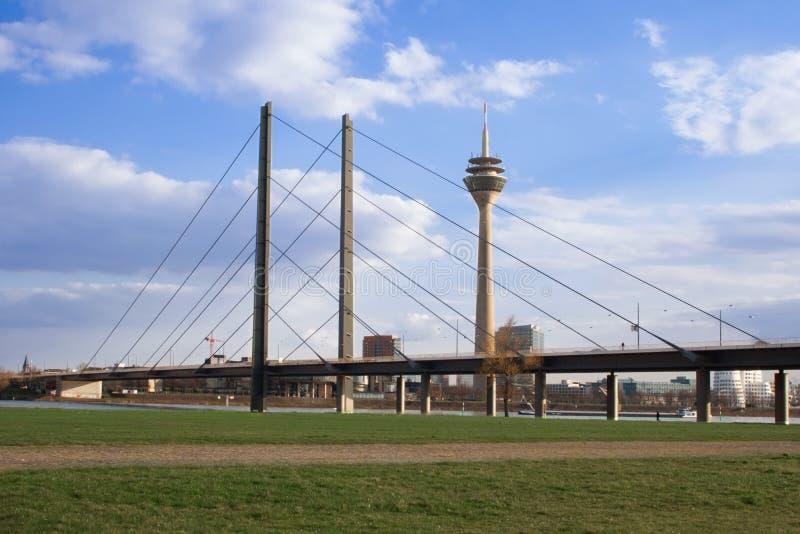 Horizon van Dusseldorf royalty-vrije stock foto's
