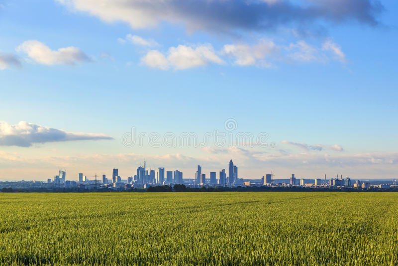 Horizon van Frankfurt royalty-vrije stock foto