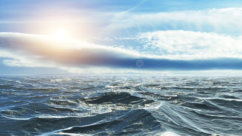 Horizon van het overzees stock foto