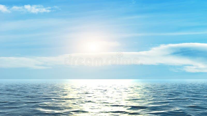 Horizon van het overzees royalty-vrije stock fotografie