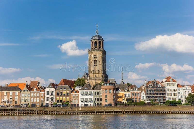 Horizon van historische stad Deventer royalty-vrije stock foto's