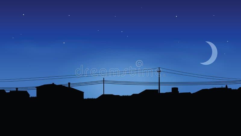 Horizon van huizen stock illustratie