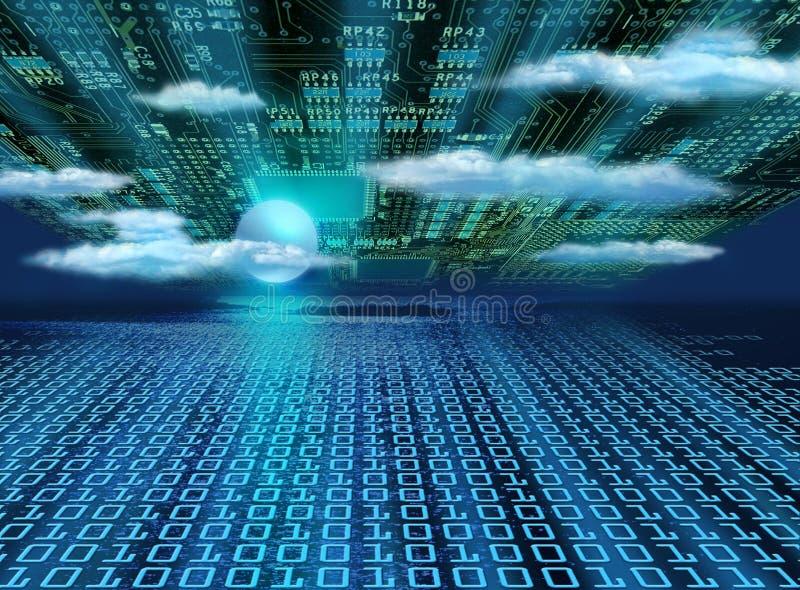 Horizon van informatie stock illustratie
