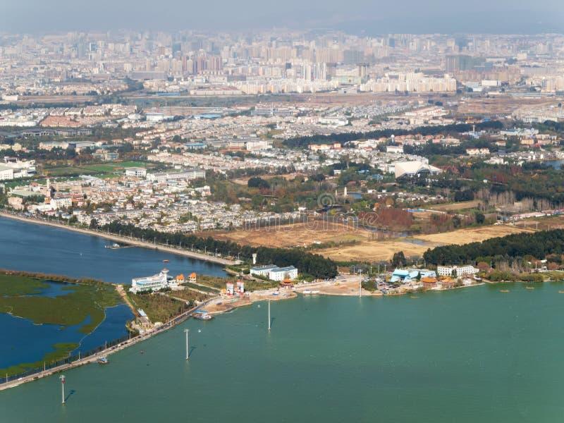 Horizon van Kunming, China royalty-vrije stock foto's