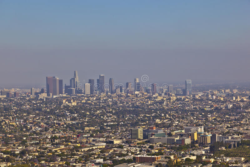 Horizon van Los Angeles stock afbeelding