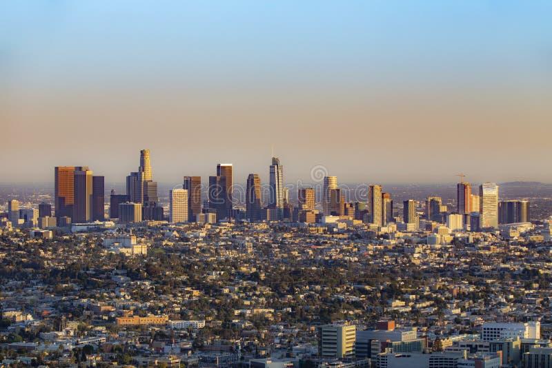 Horizon van Los Angeles stock foto