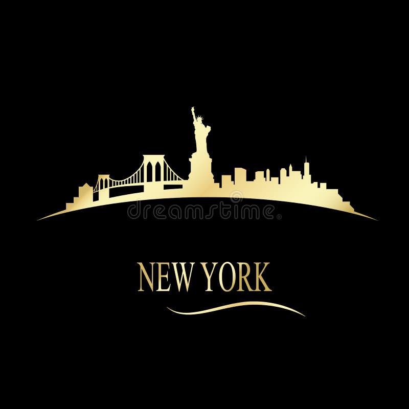Horizon van luxe de gouden New York stock illustratie