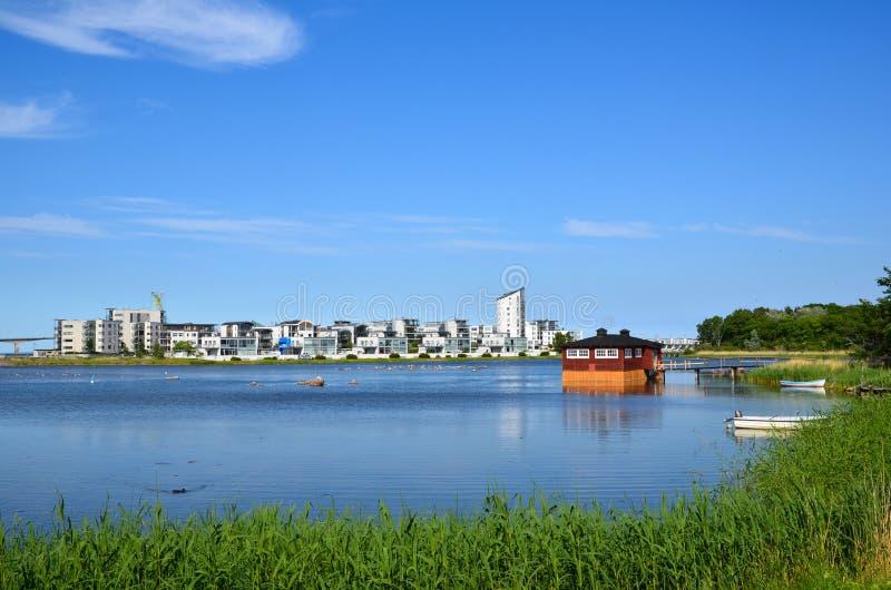 Horizon van moderne Kalmar stock foto