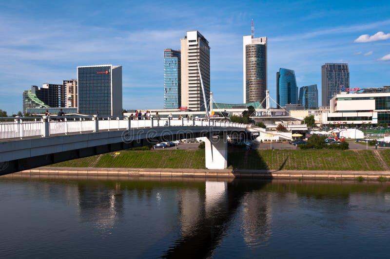Horizon van Moderne Stad Vilnius royalty-vrije stock afbeeldingen