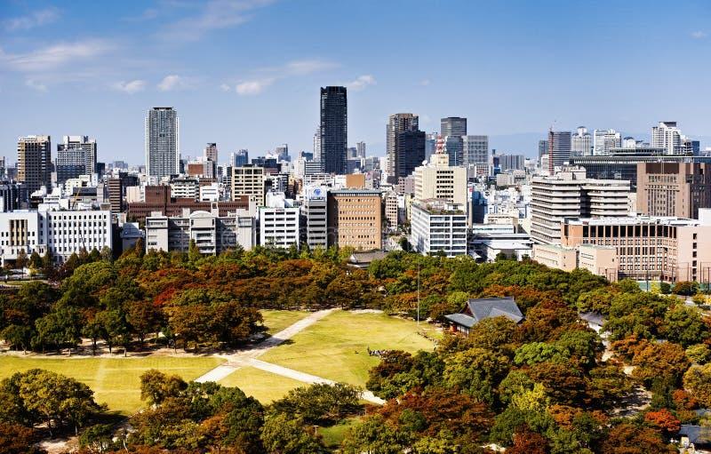 Horizon van Osaka royalty-vrije stock afbeeldingen