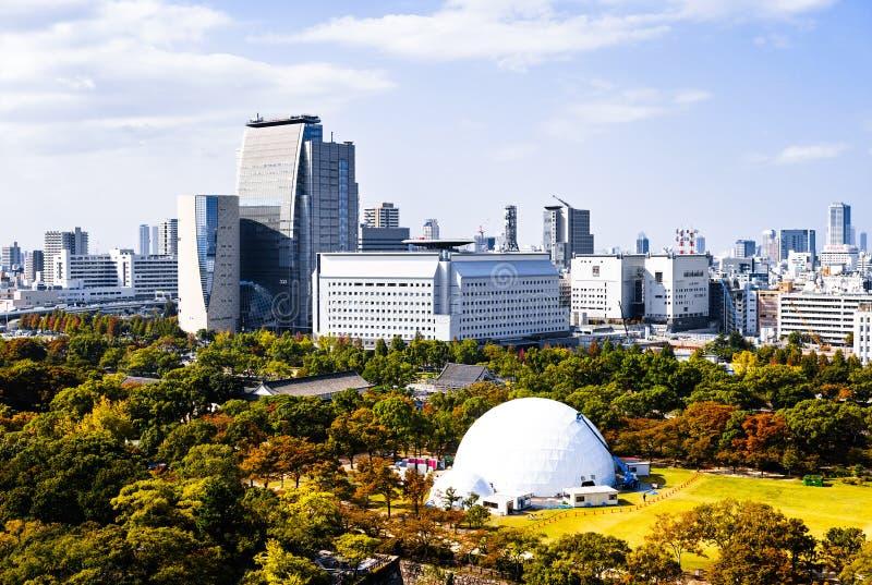 Horizon van Osaka stock foto