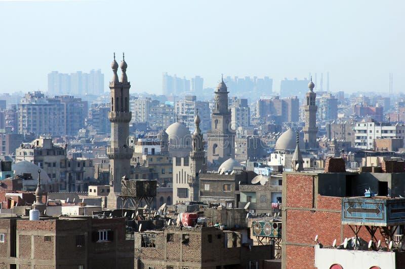 Horizon van oud Kaïro stock foto