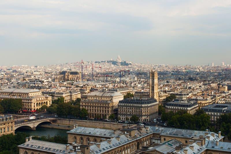 Horizon van Parijs. stock afbeelding