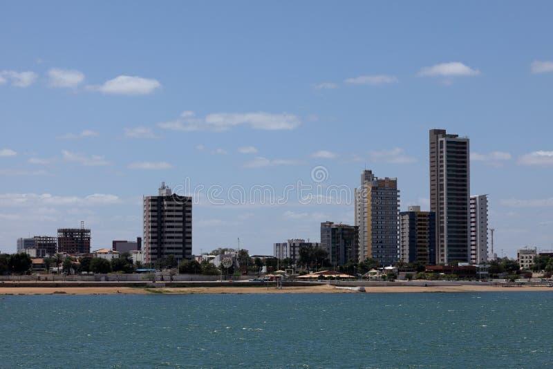 Horizon van Petrolina in Rio Sao Francisco royalty-vrije stock foto's