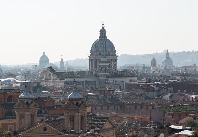 Horizon van Rome naar al Corso van San Carlo stock foto