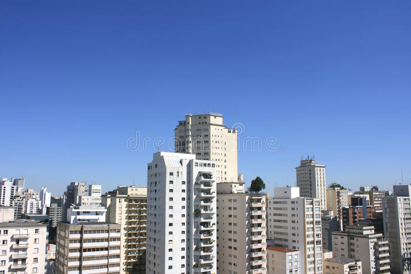 Horizon van Sao Paulo royalty-vrije stock foto