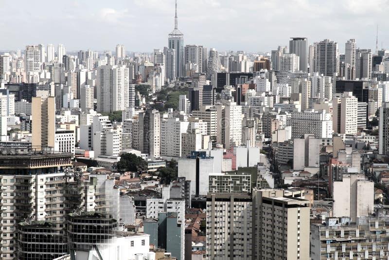 Horizon van Sao Paulo stock foto