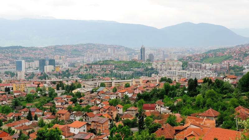 Horizon van Sarajevo no.2 stock foto's