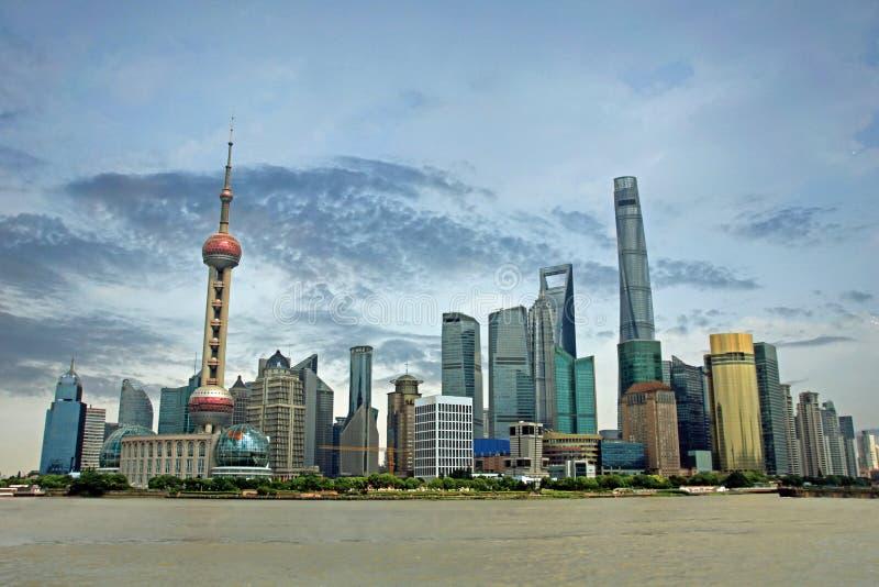Horizon van Shanghai royalty-vrije stock afbeelding