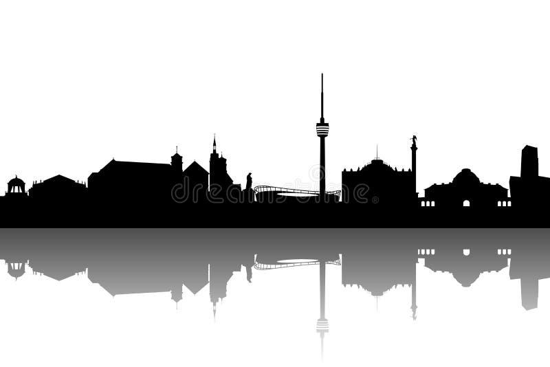 Horizon van Stuttgart royalty-vrije illustratie