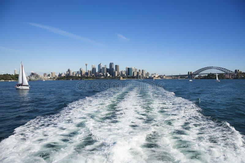Horizon van Sydney, Australië. stock afbeelding