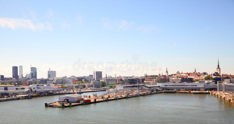 Horizon van Tallin stock afbeelding