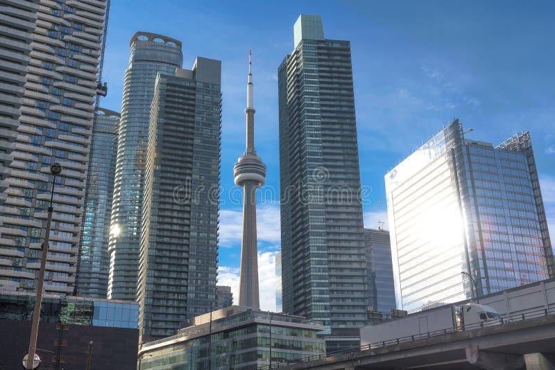 Horizon van Toronto met CN Toren royalty-vrije stock fotografie