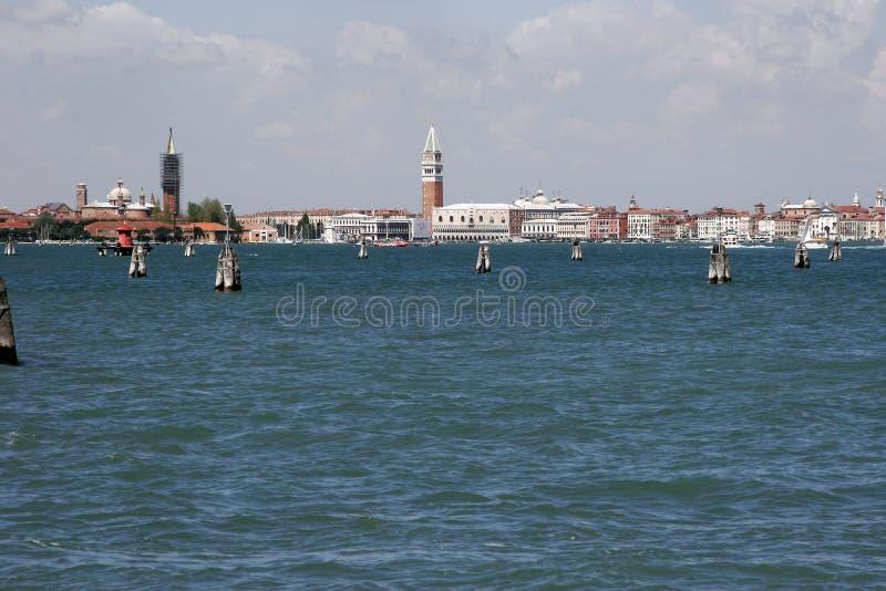 Horizon van Venetië van Lido, Italië royalty-vrije stock afbeeldingen