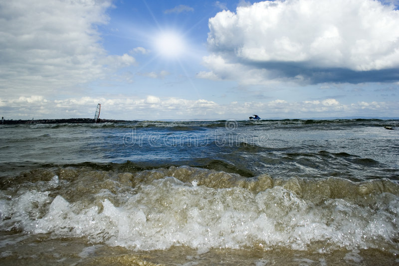Horizon-windsurfer photos stock