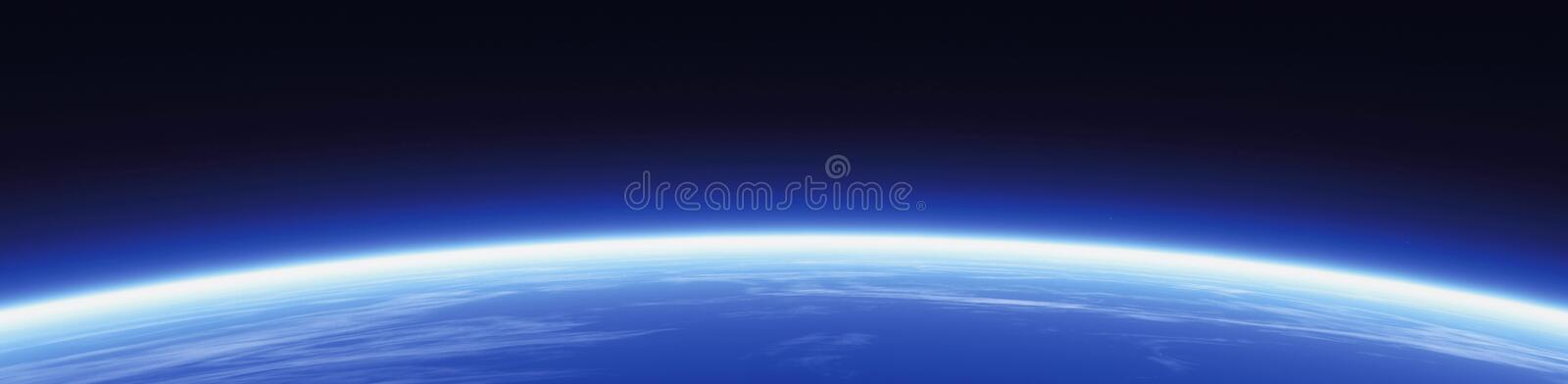 Horizon and world banner royalty free illustration