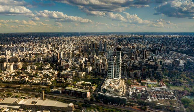 Horizonpanorama Luchtbuenos aires Argentinië stock foto