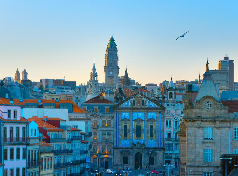 Horizonporto Oude Stad portugal royalty-vrije stock fotografie