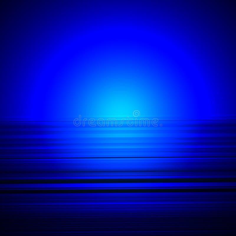 Horizons bleus illustration stock