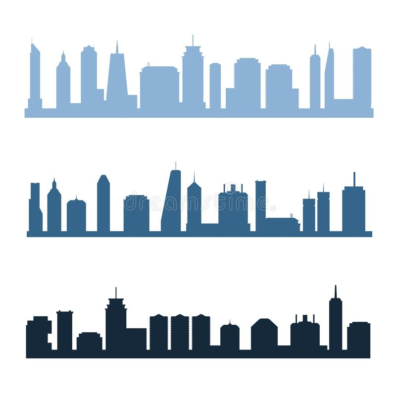 Horizons génériques de ville illustration de vecteur