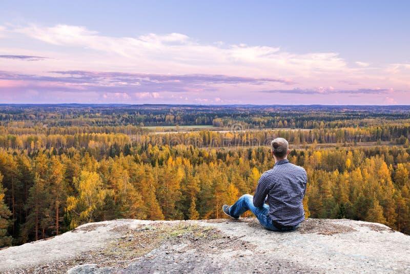 Horizont über Holz lizenzfreie stockfotos