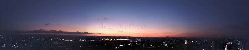 Horizont. Big city horizont perspective at sunset stock photography