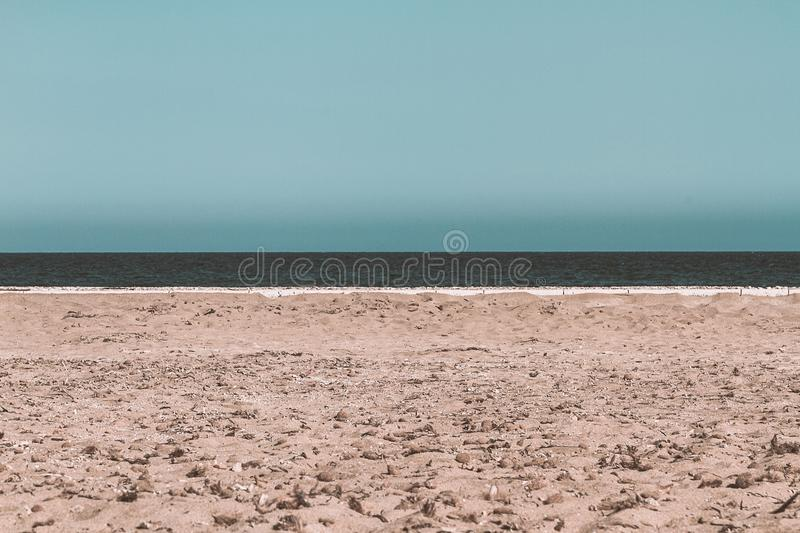 Horizont line by the Mediterranean. Horizont by the Mediterranean sea stock photography