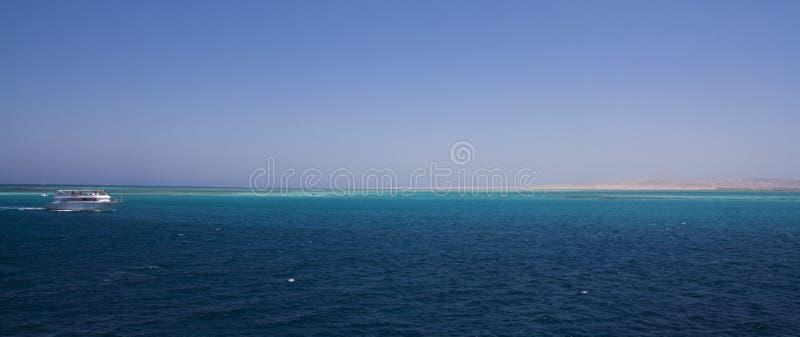 Horizont. Stunning blue ocean in the horizont stock image