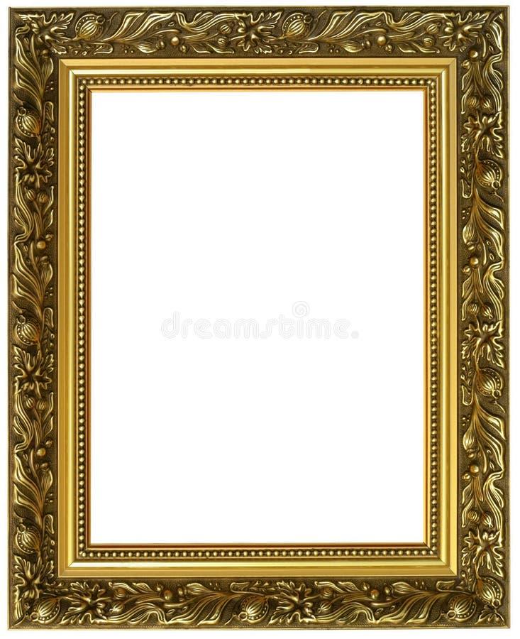 Horizontaal gouden frame stock fotografie