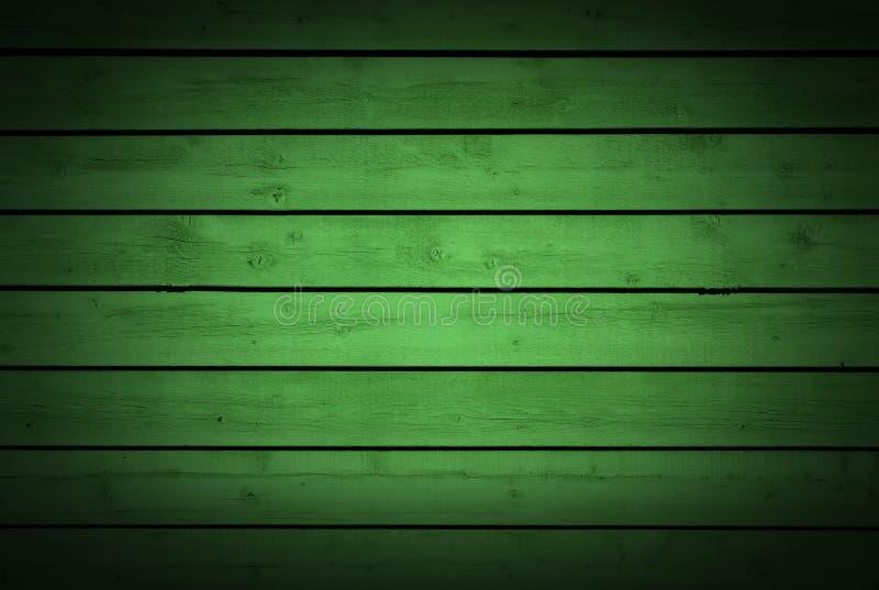 Horizontaal groen houten planken achtergrondtextuur natuurlijk houten patroon stock foto's